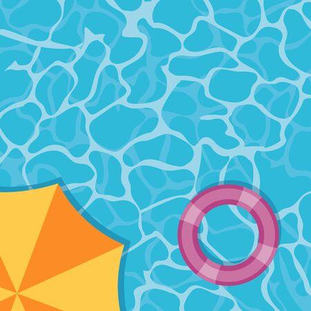 Ilustración de Transparent pool water summer poster - Imagen libre de derechos