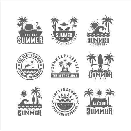 Illustration for Badge Summer Design Logo Collection - Royalty Free Image
