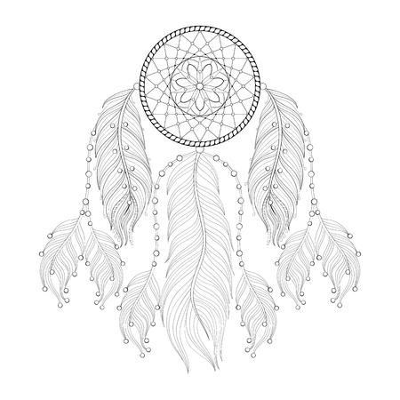 It is an image of Ridiculous Printable Adult Coloring Pages Dream Catchers