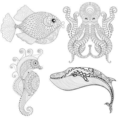 Winter coloring pages for adult art therapy Vector Image | 450x450