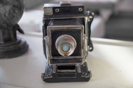 Photo for old camera on a white background - Royalty Free Image
