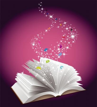 Open book education concept