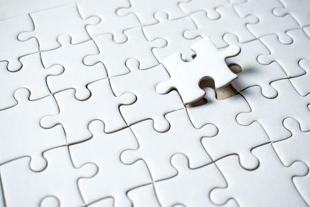 Photo pour The last piece of the puzzle is empty on the space. - image libre de droit
