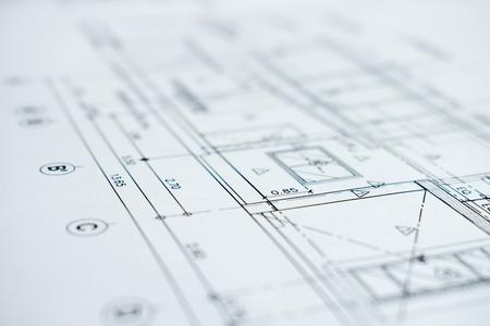 Foto de Close-up picture showing details of construction plans. - Imagen libre de derechos