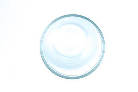 Foto de The top view of the glass. Isolated white background. - Imagen libre de derechos
