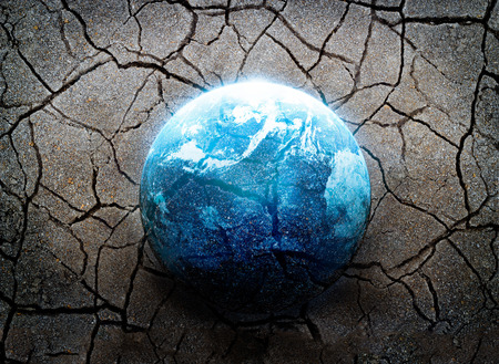 Earthquake, the most disaster of the world, Environment concept, Elements of this image furnished by NASA