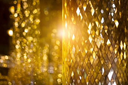 Photo for Shining golden mosaic glass background - Royalty Free Image