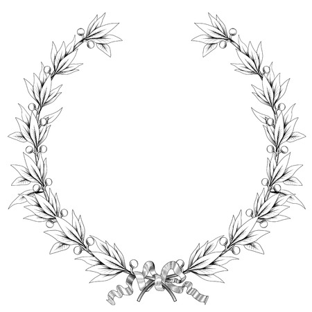 vector laurel wreath (black and white colors)