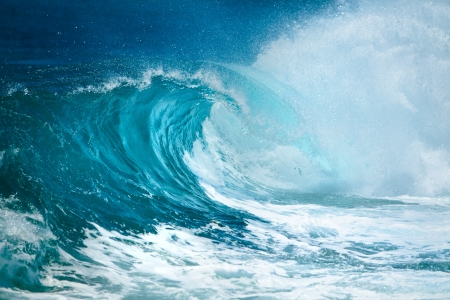 Photo pour Ocean wave  - image libre de droit