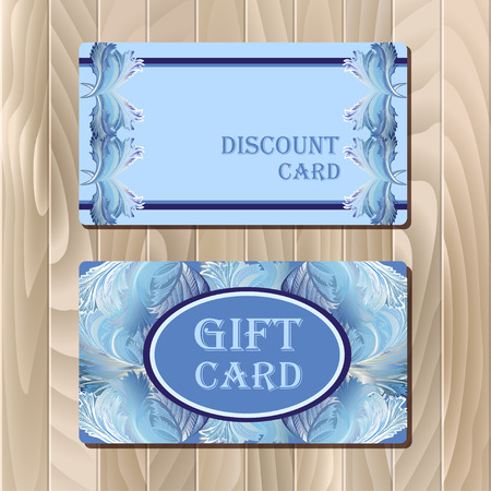 Discount, Voucher, Gift certificate, Coupon template. Holiday or celebration background design for invitation, banner, ticket. illustration in blue color.