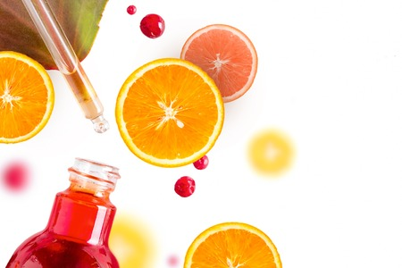 Citrus essential oil, vitamin c serum, beauty care aroma therapy