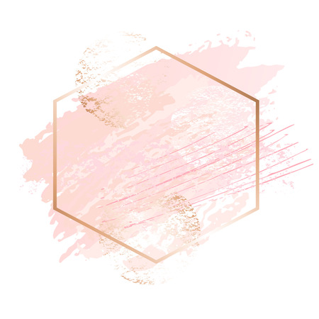 Photo for Golden pink nude art frames. - Royalty Free Image