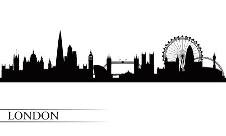 Illustration for London city skyline silhouette background, vector illustration  - Royalty Free Image