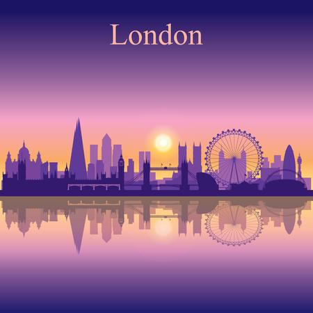 Illustration pour London city skyline silhouette background - image libre de droit