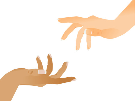 The help hand is stretched. Two hands.