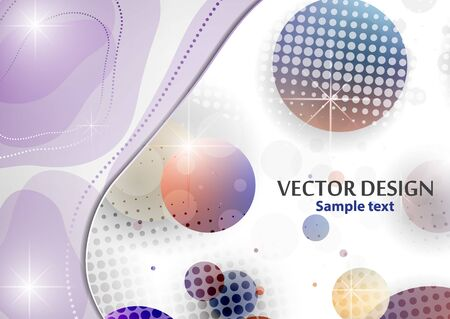 Illustration pour Creative liquid colorful form, consisting of circles and highlights. Fashionable composition of the current design. Abstract design template. Vector illustration - image libre de droit