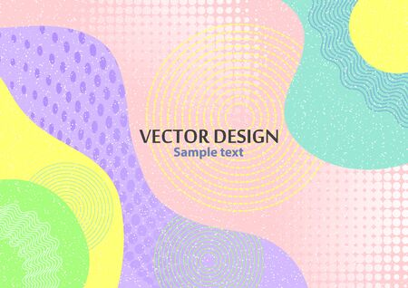 Illustration pour Creative abstract concept, colored shapes. Futuristic poster design with place for text or message. Colorful geometric background for use as web design, banners, posters, advertising. Vector illustration - image libre de droit