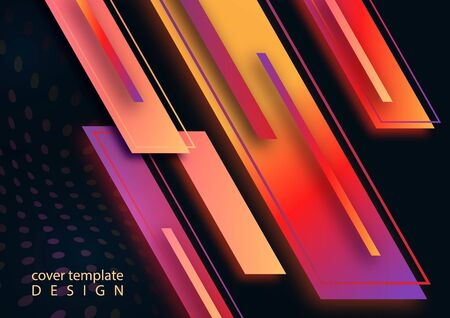 Illustration pour Modern abstract geometric background with gradient stripes and dots. Bright business template. Vector illustration. - image libre de droit