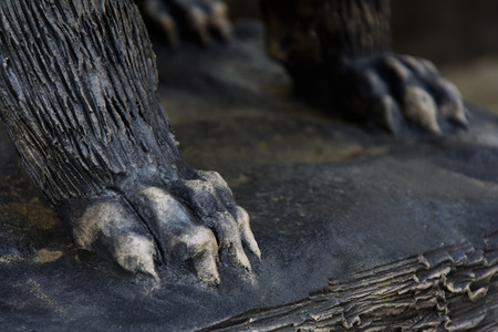 The feet of the statue of the beast