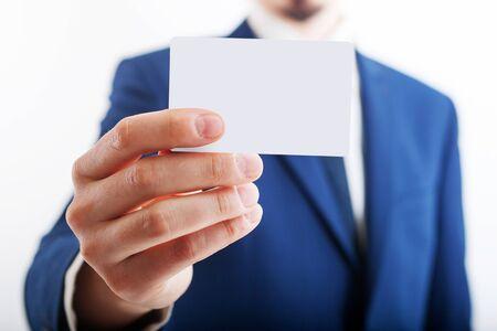 Photo pour Closeup of torso of confident business man wearing elegant suit - image libre de droit
