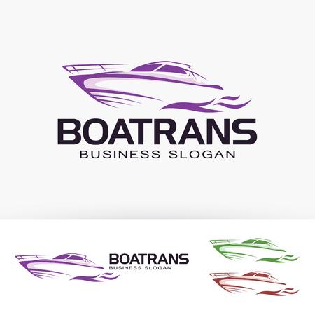 Ilustración de Boat transportation business slogan vector template - Imagen libre de derechos