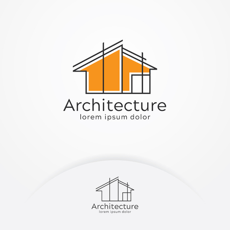 Ilustración de Architecture logo design, Vector construction company brand design template. Architect and Construction vector logo template - Imagen libre de derechos