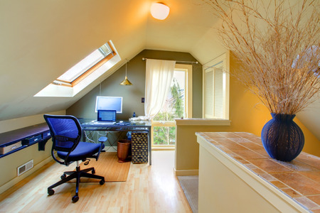 Velux office room with whirlpool chair