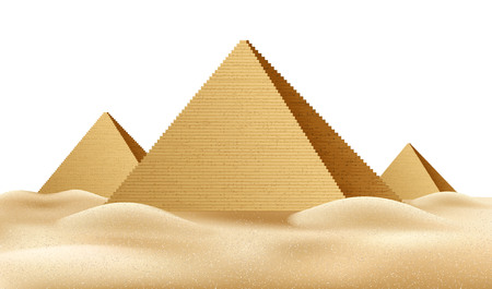 Illustration pour Vector Egypt pyramids, famous landmark realistic a - image libre de droit