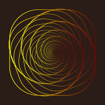 Illustration for Wireframe, twisted tunnel. Abstract background swirling line. Vector illustration - Royalty Free Image
