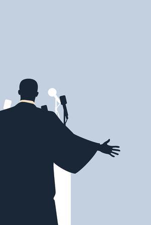 Illustration pour Martin Luther King Day flyer, banner or poster. Vector illustration - image libre de droit