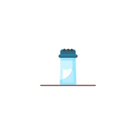 Vector salt icon, flat design Vector illustration cartoon flat icon isolated on white.