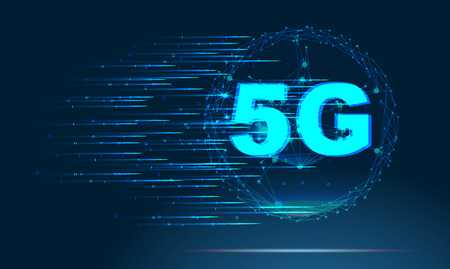 Illustration pour 5G new wireless internet wifi connection - image libre de droit