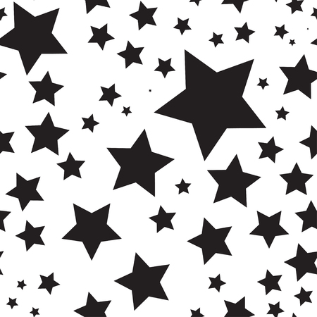 Illustration pour Vector seamless texture with stars - image libre de droit