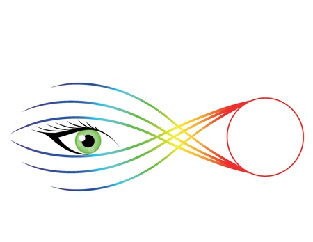 Striking eye illustration with color abstract.