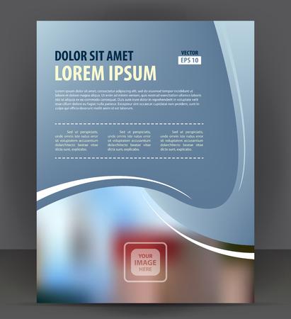 Flyer brochure, cover layout design print template, pamphlet vector letter format Illustration