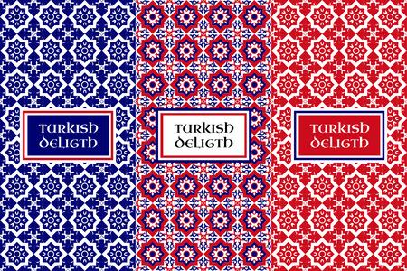 Illustration pour Turkish delight pattern - image libre de droit
