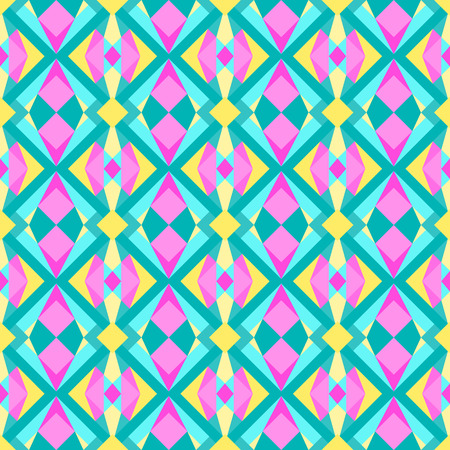 Wild triangle polygonal 90s or 80s pattern vector  Abstract