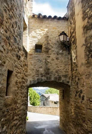 old houses in picturesque village, region of Luberon , Provence, France