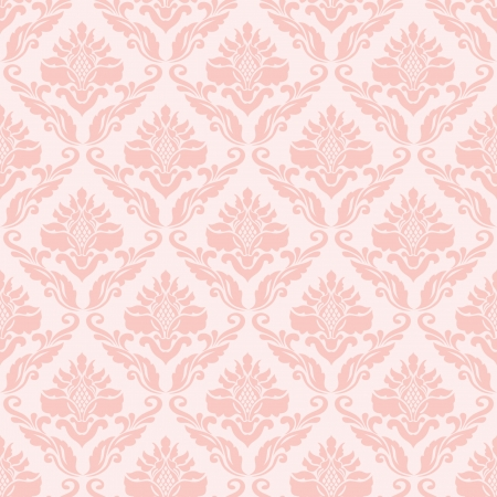 Classic seamless wallpaper in pink