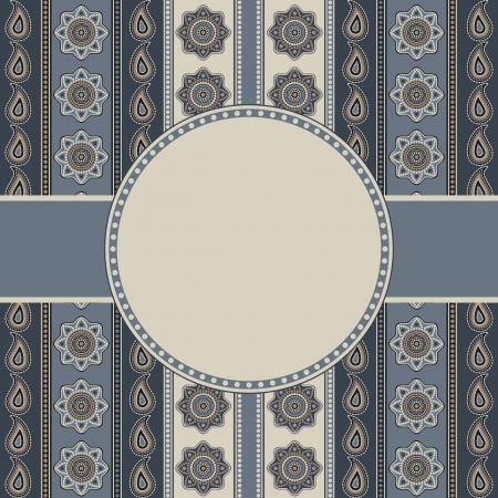 Decorative ornamental background invitation template in gray