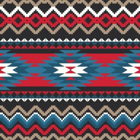 Folk ornamental textile seamless pattern