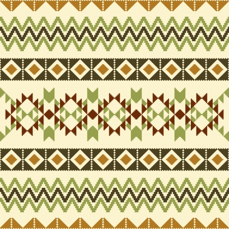 Earth Tone Tribal Pattern