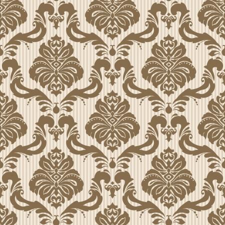 Classic wallpaper seamless ornamental pattern