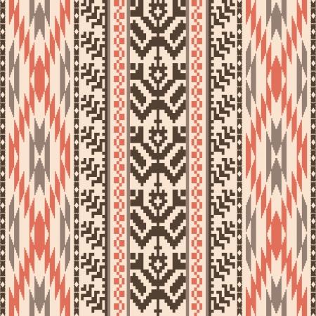 Illustration pour Ethnic textile decorative ornamenral striped seamless pattern - image libre de droit