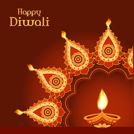Indian festival Diwali vector background