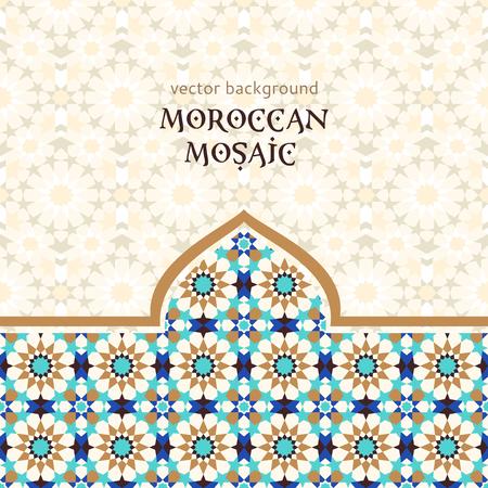 Illustration pour Moroccan mosaic background - image libre de droit