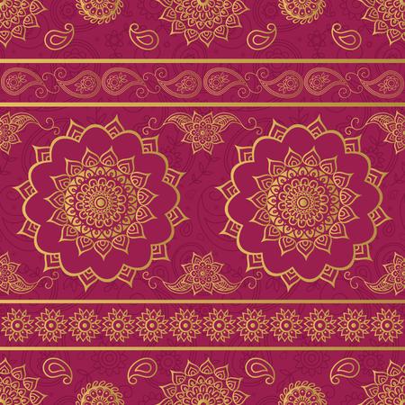 Foto de Mandala and paisley ornate pattern - Imagen libre de derechos