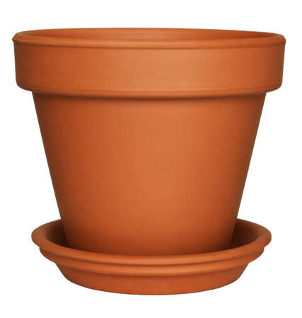 Empty Flower Pot isolated on white