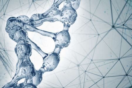 Photo for Science background with DNA molecules. 3D rendering - Royalty Free Image