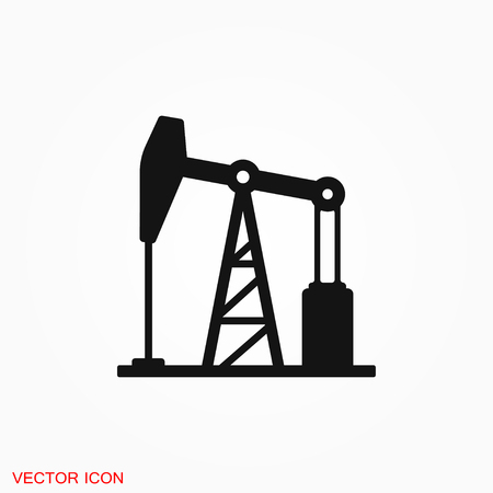 Illustration pour Oil pump icon logo, vector sign symbol for design - image libre de droit